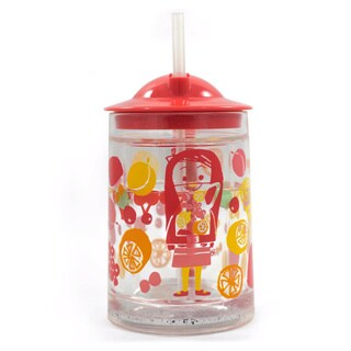 Gaia Group's Mary Blair Child's Multicolored Plastic Straw Cup