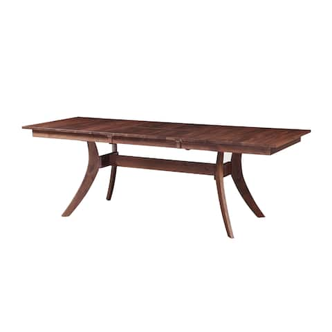 Aurelle Home Solid American Walnut Extension Dining Table