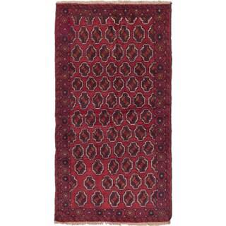 Ecarpetgallery Bahor Red  Wool Rug (3'4 x 6'3)