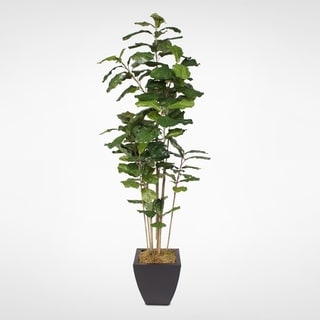 Faux Fiddle Leaf Tree With Metal Container