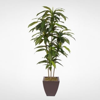 5 Feet Real Touch Artificial Dracaena Tree in Metal Planter