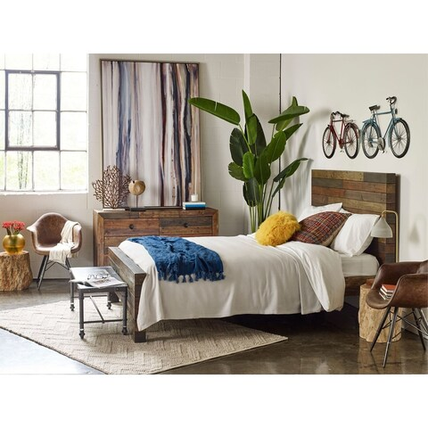 Aurelle Home Rustic Vola California King Size Bed