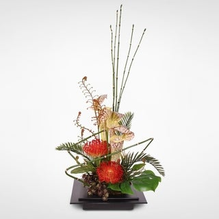 Exotic Floral Arrangement in Zinc Planer Pot