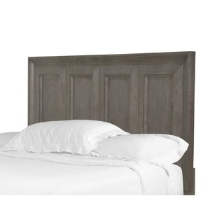 Talbot Transitional Driftwood Wood and Veneer Queen Panel Bed Headboard