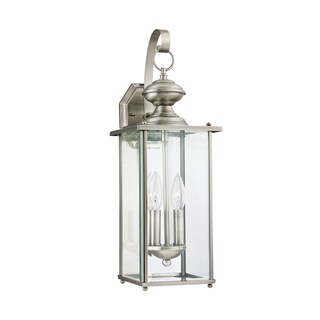 Sea Gull Jamestowne 2 Light Antique Brushed Nickel Outdoor Fixture