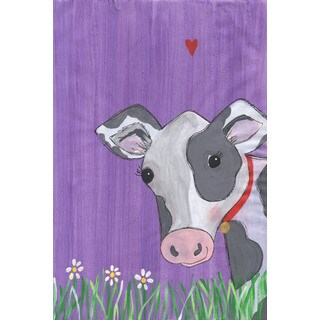 Marmont Hill - 'Cow Heart' by Melonie Madison Painting Print on Wrapped Canvas - Multi-color (More options available)