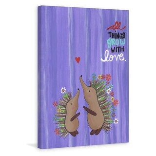 Marmont Hill - 'Porcupine Love' by Melonie Madison Painting Print on Wrapped Canvas