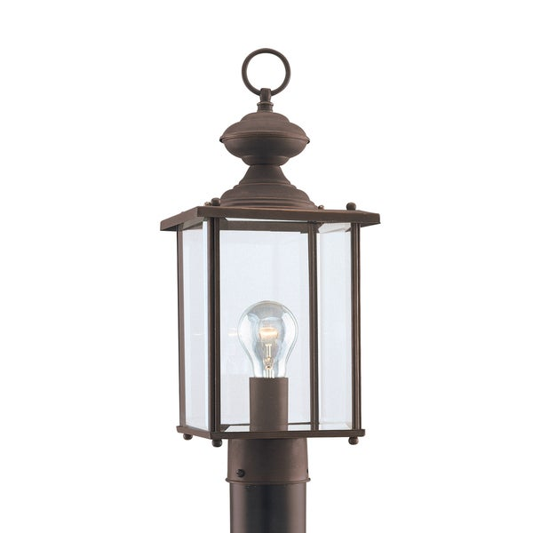 Sea Gull Jamestowne 1 Light Antique Bronze Outdoor Fixture