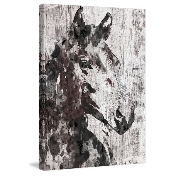 Marmont Hill - 'Black Braid' by Irena Orlov Painting Print on Wrapped Canvas