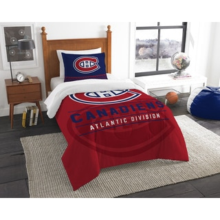 The Northwest Company NHL Montreal Canadiens Draft Multicolor 2-piece Twin Comforter Set