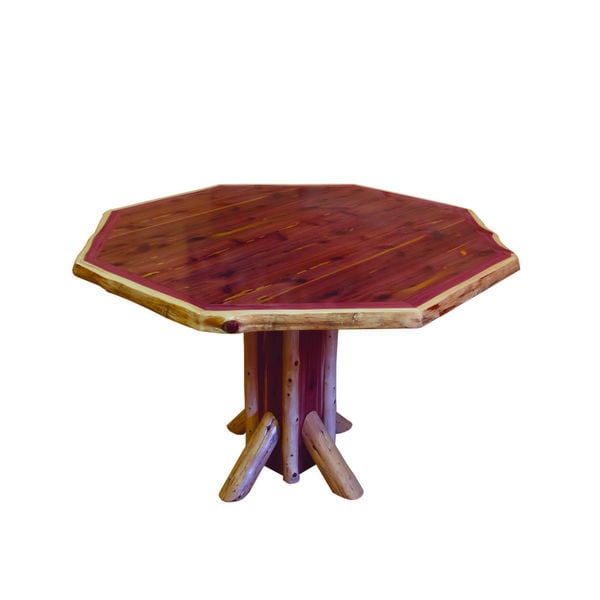 Shop Rustic Red Cedar Log Octagon Dining Table