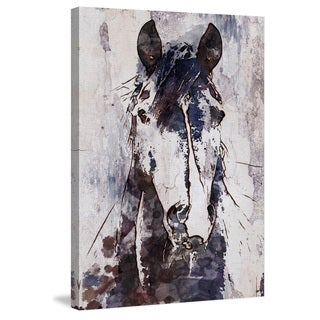 Marmont Hill - 'Mustang Horse' by Irena Orlov Painting Print on Wrapped Canvas - Multi-color (More options available)