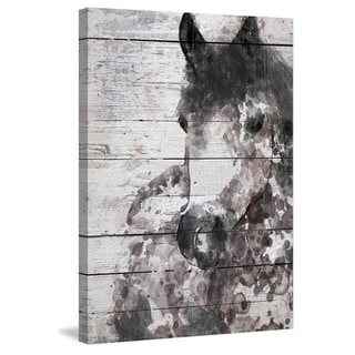 Marmont Hill - 'Grey Horse' by Irena Orlov Painting Print on Wrapped Canvas