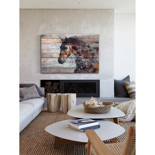 Marmont Hill - 'Fire Horse' by Irena Orlov Painting Print on Wrapped Canvas