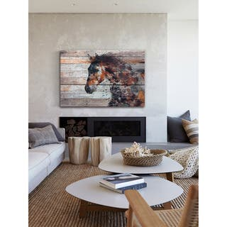 Marmont Hill - Handmade Fire Horse Print on Wrapped Canvas