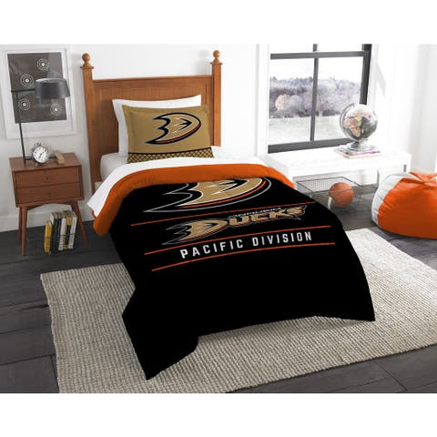 The Northwest Company NHL Anaheim Ducks Draft Multicolor Twin 2-piece Comforter Set