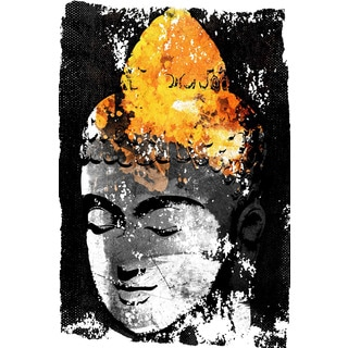 Marmont Hill - 'Buddha Black Gold' by Rick Martin Painting Print on Wrapped Canvas