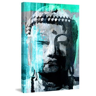 Marmont Hill - 'Buddha Giant' by Rick Martin Painting Print on Wrapped Canvas
