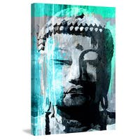 Marmont Hill - 'Buddha Giant' by Rick Martin Painting Print on Wrapped Canvas - Multi-color