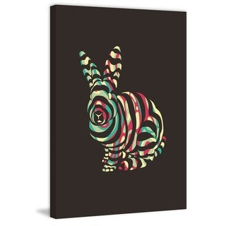 Marmont Hill - 'Rabbit' by Jason Detmer Painting Print on Wrapped Canvas