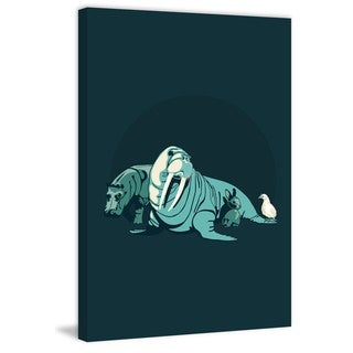 Marmont Hill - 'Walrus' by Jason Detmer Painting Print on Wrapped Canvas