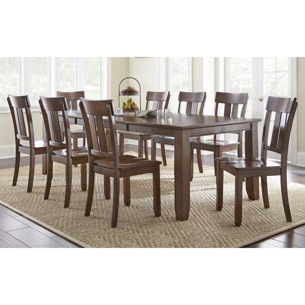 piece solid wood dining set with table and 8 chairs