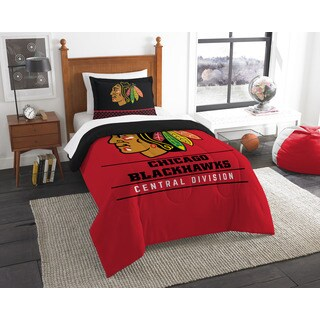 The Northwest Company NHL Chicago Blackhawks Draft Twin 2-piece Comforter Set