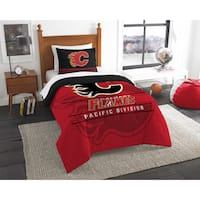 The Northwest Company NHL Calgary Flames Multicolored Twin 2-piece Comforter Set