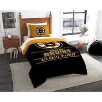 The Northwest Company NHL Boston Bruins Draft Twin 2-piece Comforter Set