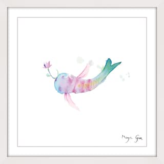Marmont Hill - 'Watercolor Fish' by Maya Gur Framed Painting Print