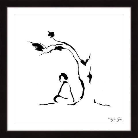 Marmont Hill - Handmade Meditation under Tree Framed Print