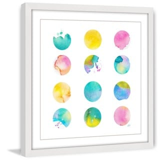 Marmont Hill - 'Pastel Dots' by Brilliant Critter Framed Painting Print