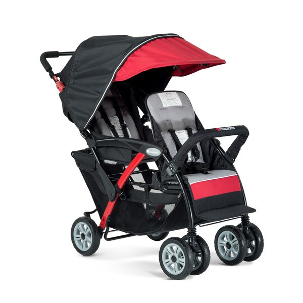 Foundations Sport Black And Red Dual Passenger Stroller
