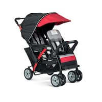 Foundations Sport Black and Red Dual-Passenger Stroller