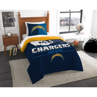 The Northwest Company NFL 862 Chargers Draft 2-piece Twin Comforter Set