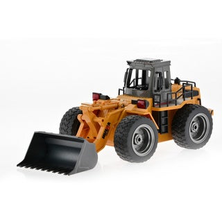 Yellow Plastic RC Bulldozer with Die Cast Bucket