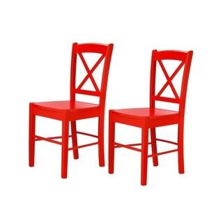 Scandinavian Lifestyle MDF and Rubberwood Joy Dining Chair (Set of 2)