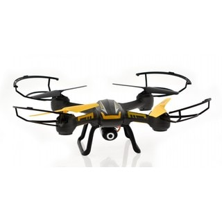 Black Plastic 5-megapixel 4-channel 6-axis Altitude Hold, 1-key Return, and Headless Mode Camera Drone