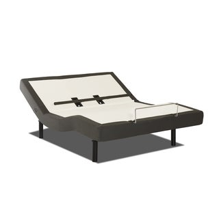 Purelife Queen-size Adjustable Bed Base with Full Range Head and Foot Lift, Lumbar Support, Massage, and Wireless Remote