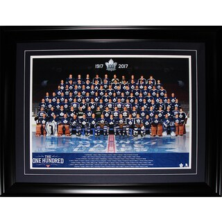 Toronto Maple Leafs Multicolored 100th Anniversary Framed Historical Players Photograph