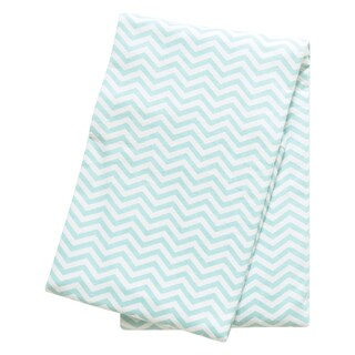 Trend Lab Mint Chevron Cotton Deluxe Flannel Swaddle Blanket