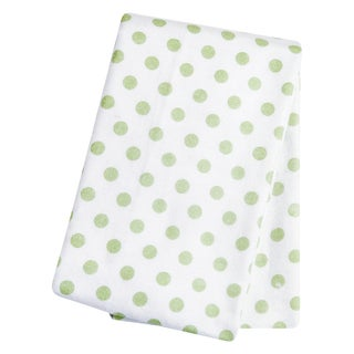 Trend Lab Sage Dot Flannel Deluxe Swaddle Blanket