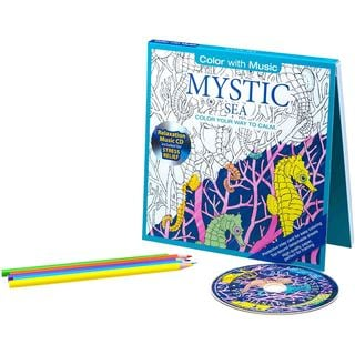 Color with Music Sea Life Stress Relieving Designs Adult Coloring Book with Bonus Relaxation CD