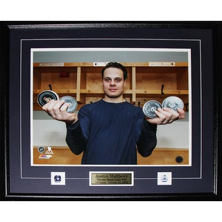 Auston Matthews Toronto Maple Leafs 1st Game 4 Goals Record Photo in 16x20 Frame