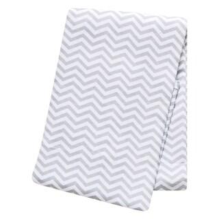 Trend Lab Grey Chevron Deluxe Flannel Swaddle Blanket