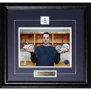 'Auston Matthews Toronto Maple Leafs 1st Game 4 Goals Record' 8x10 Framed Photo