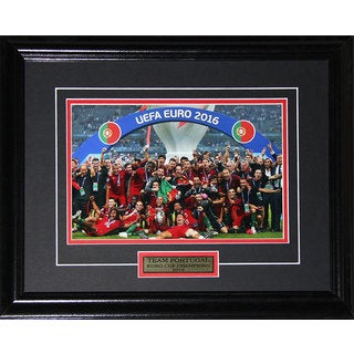2016 Team Portugal Euro Cup Champions 8-inch x 12-inch Framed Photograph