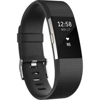 Fitbit Charge 2 Fitness Wristband (Large, Black)