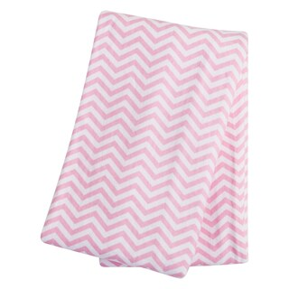 Trend Lab Girl's Pink Cotton Flannel Chevron Swaddle Blanket