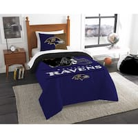 The Northwest Company NFL Baltimore Ravens Draft Twin 2-piece Comforter Set